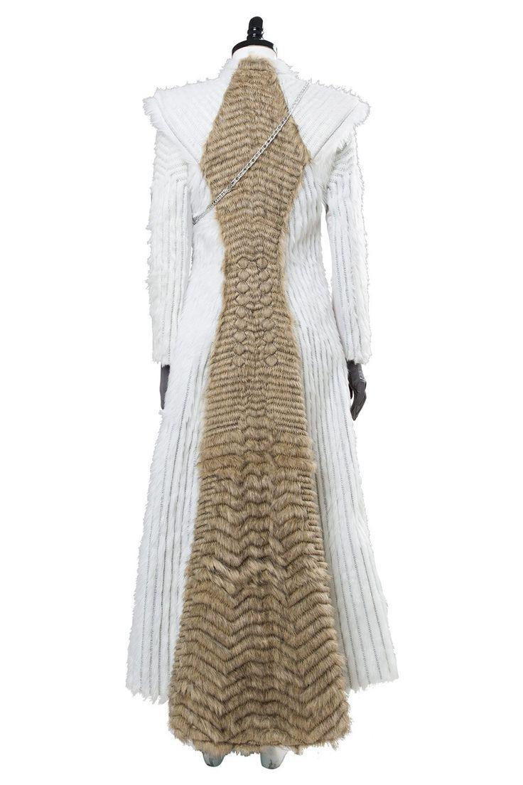 Game of Thrones Daenerys Targaryen Winter Outfit Season 7 E6 Dragonstone Dress
