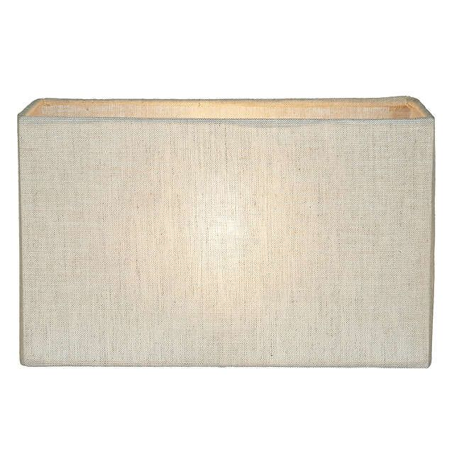 BuyJohn Lewis Samantha Rectangle Shade, Natural Linen, 25cm Online at johnlewis.com