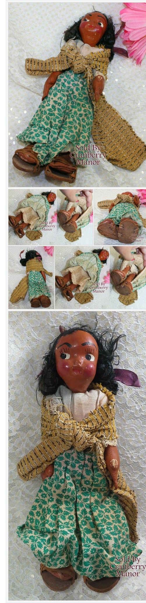 Oil Cloth & Wood Toy Doll Mexican Cultural Souvenir Vintage Mid Century 1950s Mexico Folk Art Gift #Toy #Doll #Mexican #Vintage #MidCentury #Mexico #FolkArt #Gift http://cranberry-manor.com/oil-cloth-wood-toy-doll-mexican-cultural-souvenir-vintage-mid-century-1950s-mexico-folk-art-gift/