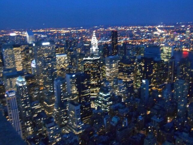 View from Empire State Building NYC 2014