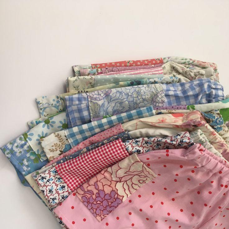 Vintage floral girls shorts Handmade children's clothing  @lueysmum