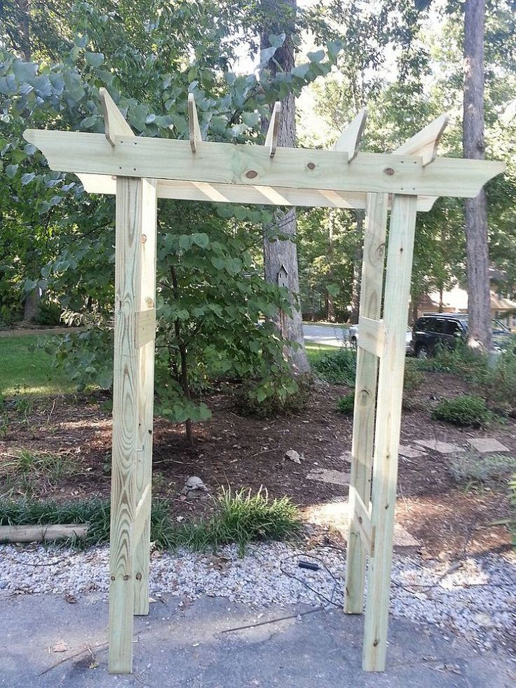 Looks pretty small, but you get the idea.... Instructions for Pergola for Under $20 :: Hometalk