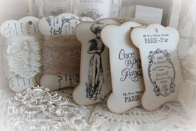 Love! Love! Love!: Crafts Paper, Old Paper, Paper Rose, Art Crafts Ideas, Brocante Vintage, Ribbons Cards, Vintage Tags, French Vintage, Paper Cards Tags