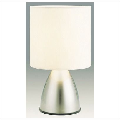 Nikki Touch Lamp in Brushed Chrome Oriel