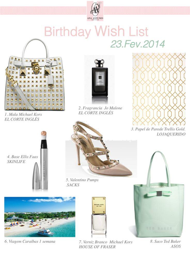 Birthday Wish List * Presentes de Aniversário de Sonho