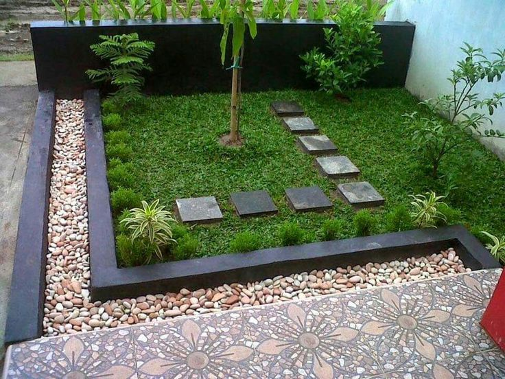 Simple garden 1 home inspiration pinterest gardens for Simple landscape design
