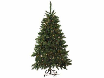 Albero di Natale pino abete artificiale Norvegese con 664 rami e 540 luci gialle. Altezza 180 cm e base d'appoggio in metallo  Misure: Ø 112 cm x 180 H Materiale: Plastica
