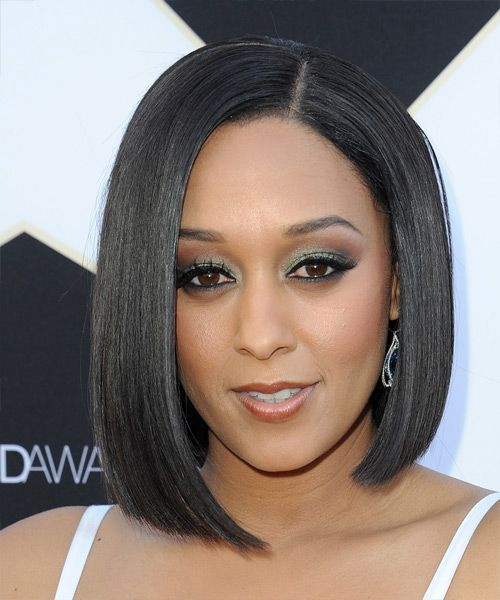 Tia Mowry Bob Hairstyle. Try on this hairstyle! http://www.thehairstyler.com/hairstyles/formal/medium/straight/Tia-Mowry-smooth-sexy-dark-hairstyle