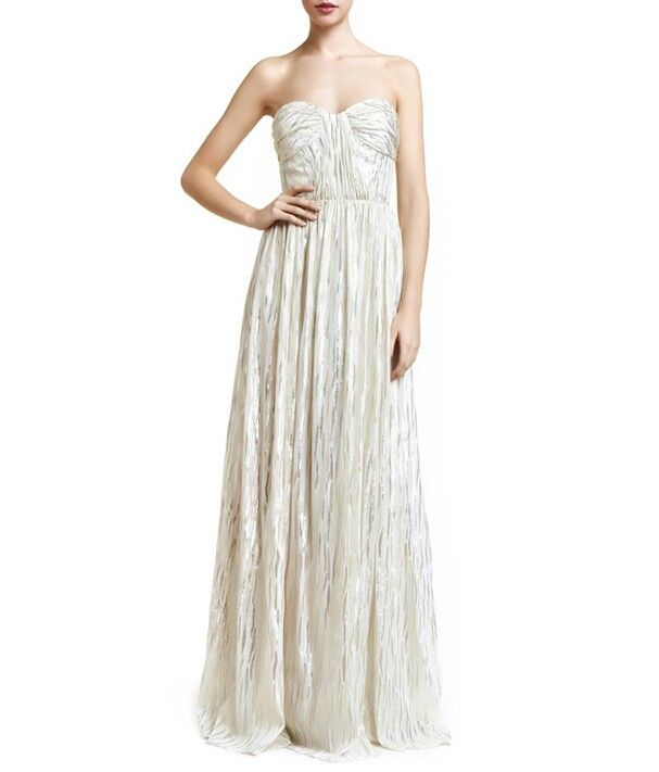 Robe de mariée argentée
