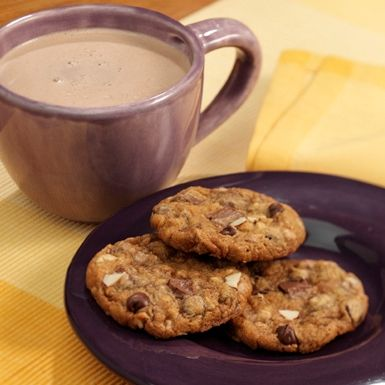 Almond Toffee Chocolate Chip Cookies