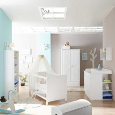 Massivholz Babyzimmer Weiß Kiefer Sianner