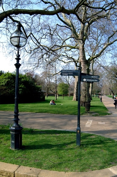 Paths in Hyde Park