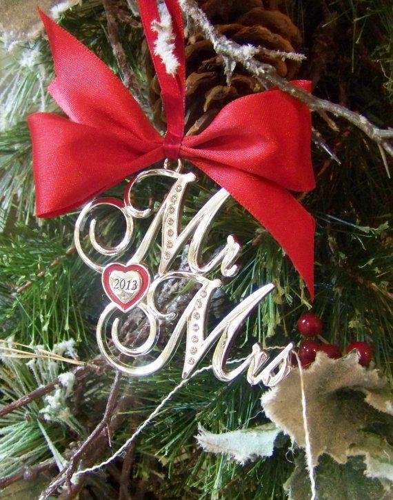 Christmas OrnamentMr and Mrs 2013 Ornament, Wedding Gift