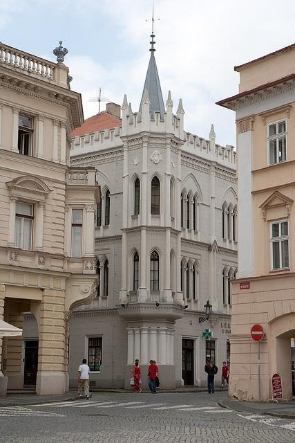 Corner of square in Litomerice CZECH REPUBLIC.   (by leenportfolio, via Flickr)