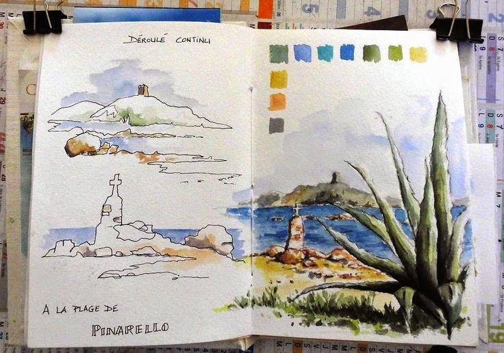 Croquis,carnets de voyage et aquarelle, Stage de croquis en ligne, Sketching, journey journals and watercolor, on-line workshop
