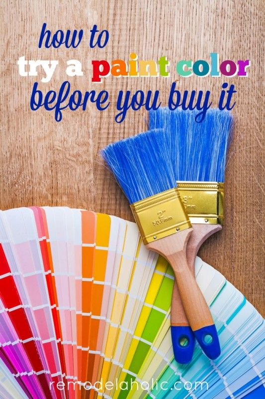 How to try a paint color before you buy it -- testing online virtual paint simulators @Remodelaholic