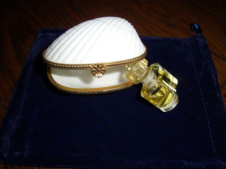 Estee Lauder White Linen  RARE SHELL TRINKET BOX Md in Japan W Mini Perfume$125