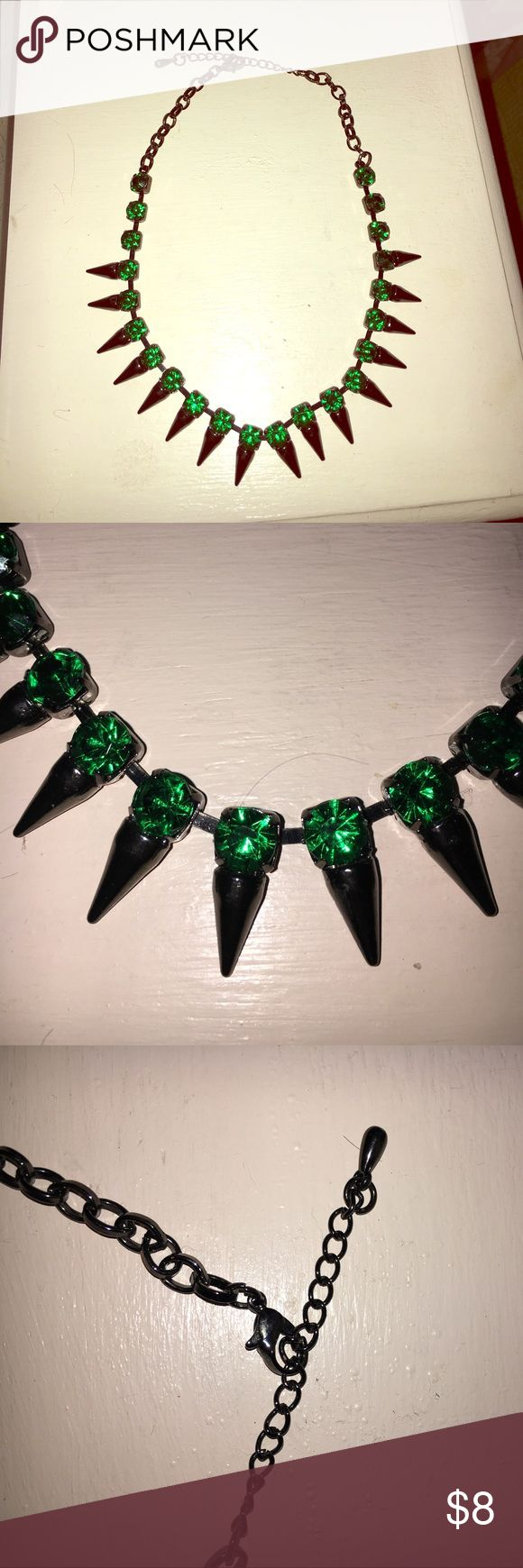 Emerald green statement necklace Beautiful green and black statement necklace, can be adjusted 13-18 inches Bar III Jewelry Necklaces