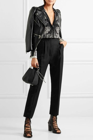 Alexander McQueen - Paisley-print Silk Crepe De Chine Blouse - Black - IT