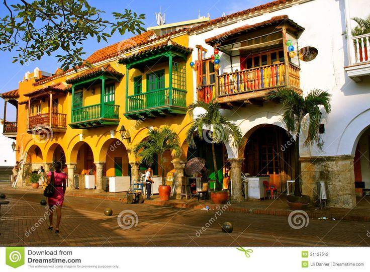 Construciones coloniales. Cartagena de Indias, Bolivar COLOMBIA .       Colombia Editorial Photography