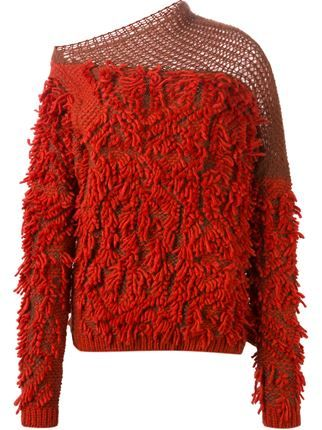 '152 Tapas' fringed sweater