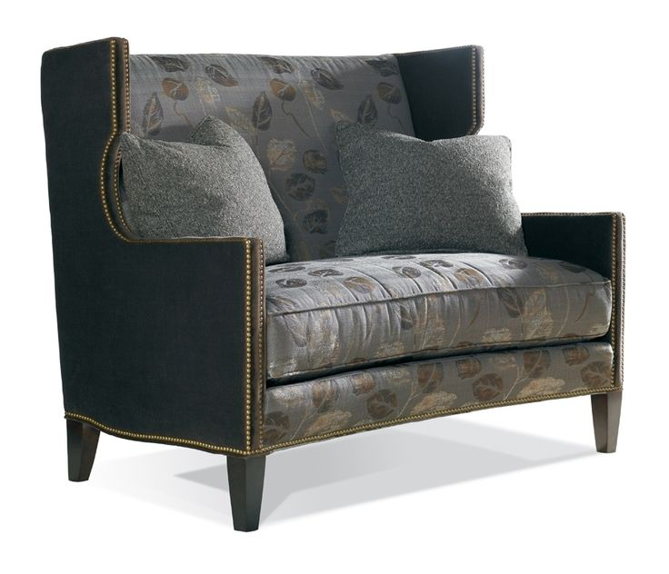 shop for sherrill one cushion settee with nail trim and other living room settees at hickory furniture mart in hickory nc