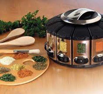 Kitchen decor Accessories ideas | Modern Kitchen Accessories for Spices Storage, Contemporary Spice ...