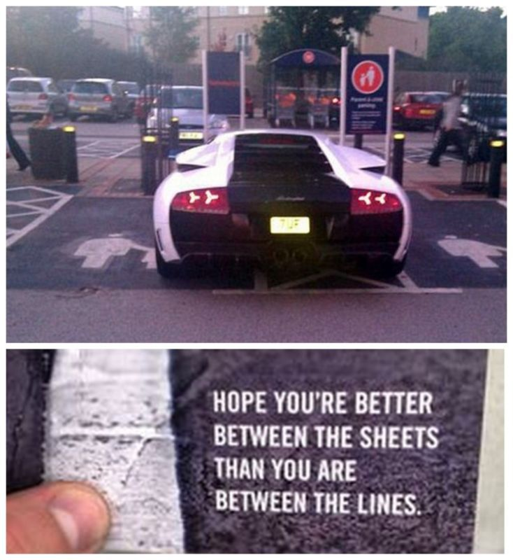 Supercar Owner Gets OWNED! Click to see more hilarious bad parking notes... #spon #lol #badparking