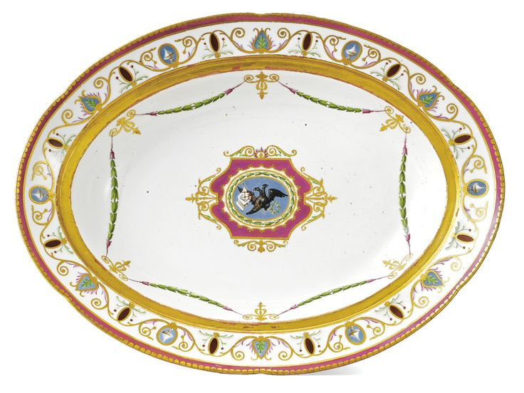 A porcelain platter from the Yacht Service Imperial Porcelain Manufactory period of Catherine II. Vintage PlatesRussian ...  sc 1 st  Pinterest & 109 best Russian Imperial Porcelain images on Pinterest | Porcelain ...