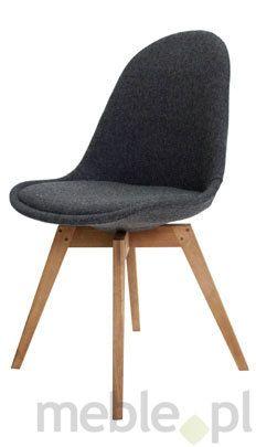 Tenzo Krzesło Nowoczesne Donna Czarne Tkanina Nogi Bess Drewniane - DonnaBess-C-D, Tenzo - Meble