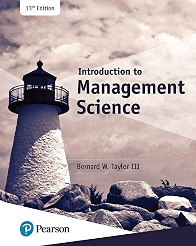 Get Book Introduction To Management Science 13th Edition What S New In Operations Management By
