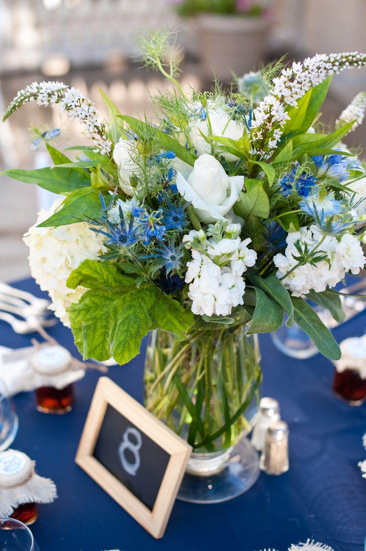 more flowers: Wedding Ideas, White Green, Beautiful Palettes, Wedded Bliss, Bliss 10 11 13, Blue White, Flower