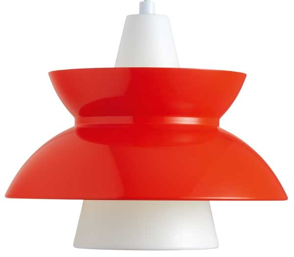 Doo-Wop was designed in the late 1950s for the Danish Navy's buildings and was used in canteens, offices, corridors and many other places. However, the light fixture continued to live on through many antique stores, and some time ago Louis Poulsen decided to resume production in response to countless requests.  For more information and inspiration go to: http://www.louispoulsen.com