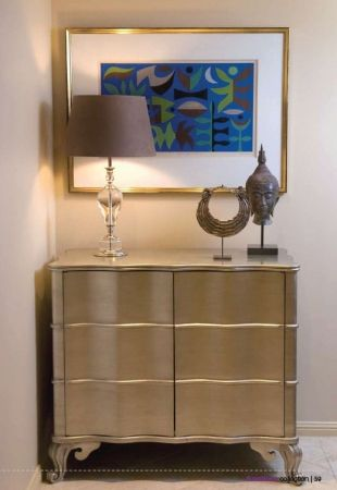 This beautiful Silver 2 Door Cabinet makes an elegant statement in any room be it a bedroom or living area   Complete Pad