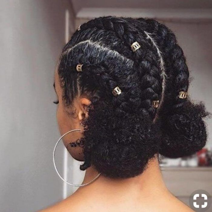 50 protective hairstyles for natural hair - women's hairstyles - 50 protective hairstyles for .- 50 protective hairstyles for natural hair – women's hairstyles – 50 protective hairstyles for natural hair – hairstyles - Medium Hair Styles, Curly Hair Styles, Natural Hair Braid Styles, Curly Afro Hair, 4c Hair, Styling Natural Hair, Curly Hair Braids, Afro Curls, Natural Hair Tutorials