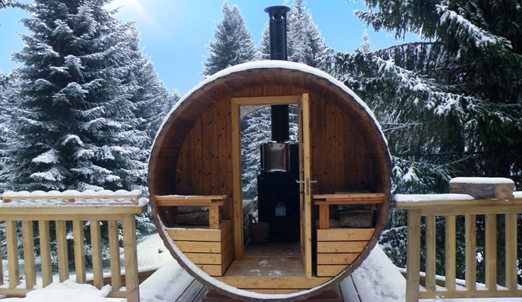 ...This wood burning sauna has a wonderful view from the glass front, down the snowy mountain...so cosy
