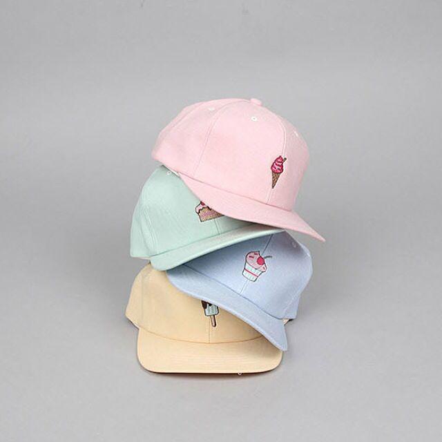 쿠치마치(kuchimachi)'s style | 아이스크림 자수 모자 #쿠치마치 #아이스크림 #스냅백