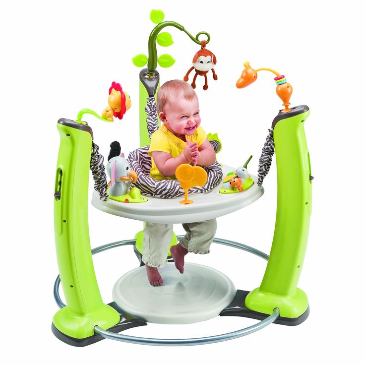 Amazon.com : Evenflo ExerSaucer Jump and Learn Jumper, Jungle Quest : Stationary Stand Up Baby Activity Centers : Baby