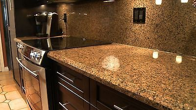 Peel N Stick Instant Vinly Counter Top Faux Fake Granite Film Overlay roll Gold