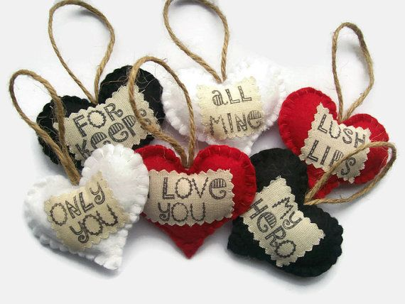 Set of 6 felt Love Hearts Fun Gifts for Men Husband by Sazparillas                                                                                                                                                     More