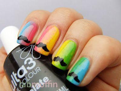 regenboog snor nagels