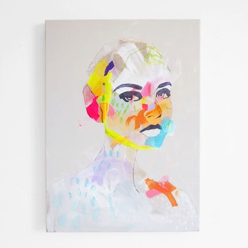 fashion illustration: abstract portrait by erin flannery [erinart.net]