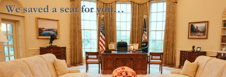 Sit at the Resolute Desk in the Oval Office.