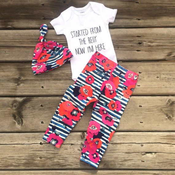 Baby Leggings Baby Pants by CandyBabyCollection on Etsy