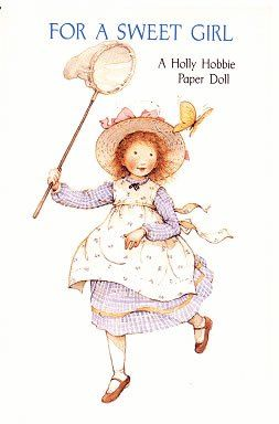 holly hobbie paper doll greeting card