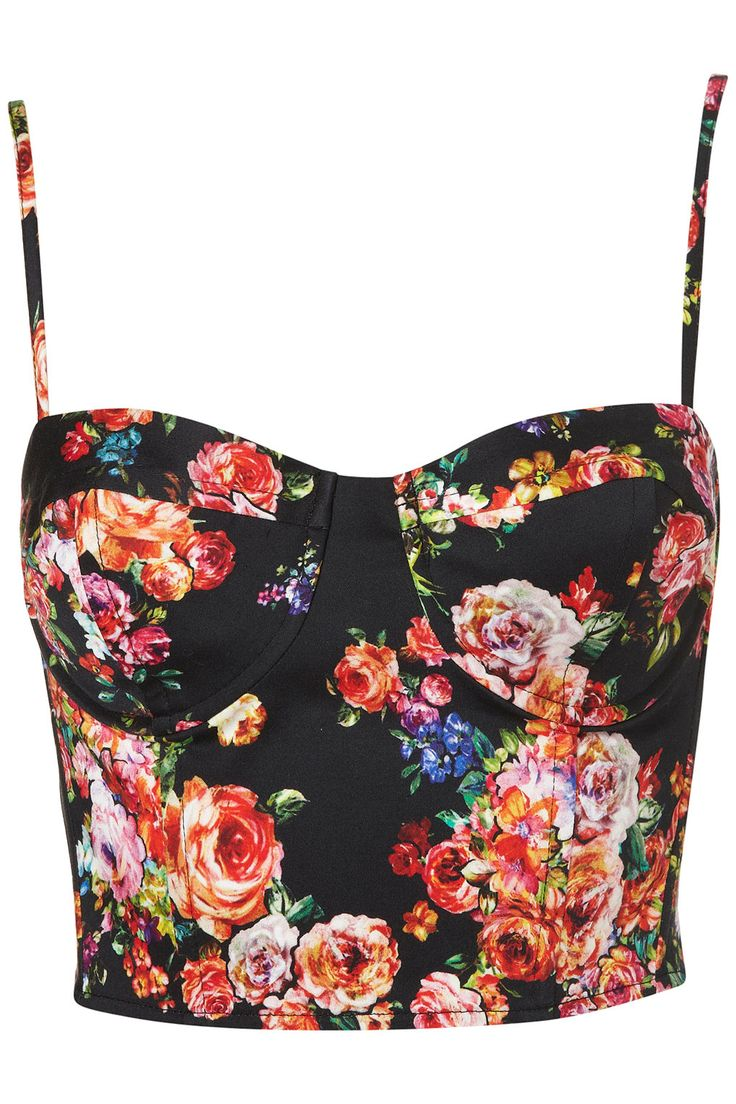Slightly Madonna, slightly Prada, this floral corset top is sure to turn heads. Topshop Floral Print Corset ($60)