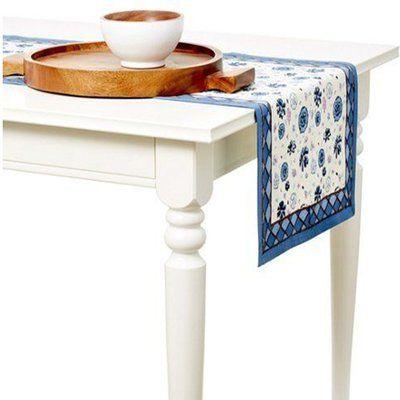 """Couleur Nature Fleur Sauvage Table Runner Size: 72"""" W x 16"""" L, Color: Multi"""