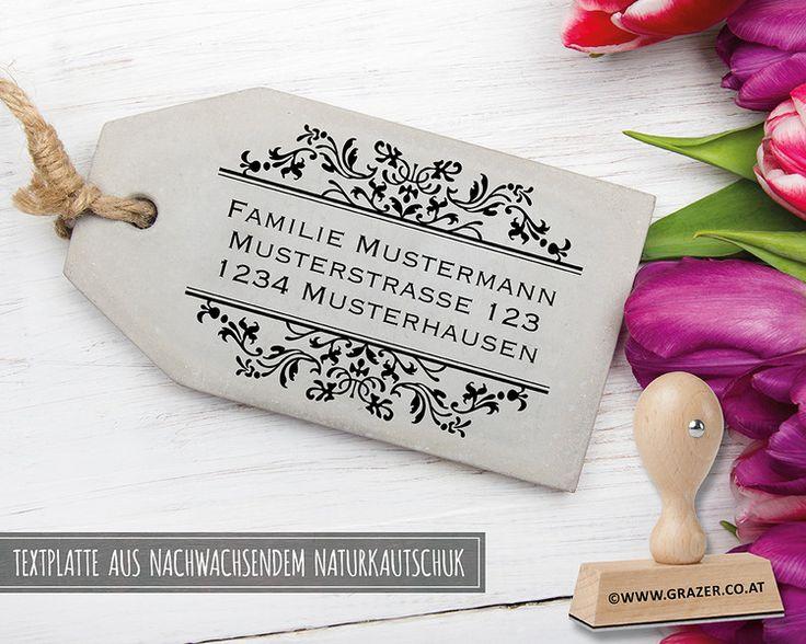 Adressstempel - Adressstempel | Familienstempel | 35 - ein Designerstück von Dr_Grazer_und_Co bei DaWanda