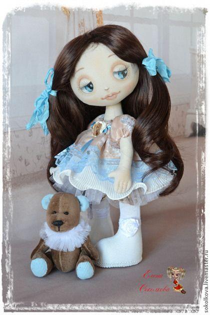 Купить Каринка номер три (с Минькой) - кукла ручной работы, куколка в подарок