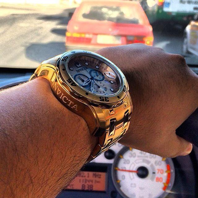 Men watches : Invicta  men watches. Invicta gold watch